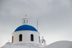 The orthodox church in Santorini Stock Photography