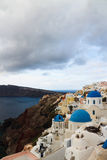The orthodox church in Santorini Stock Photos