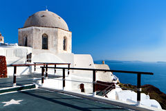 Orthodox church at Santorini, Greece Stock Photography