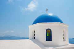 Orthodox church in Santorini. Greece Stock Images
