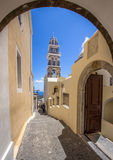 Orthodox Church in Santorini, Greece royalty free stock photography