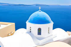 Orthodox Church in Santorini Stock Photos