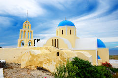 Orthodox Church on Santorini island Stock Photography