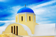 Orthodox Church on Santorini island Royalty Free Stock Photography