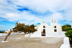Orthodox Church on Santorini island Stock Image