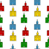 Orthodox church seamless pattern. Stock Photos