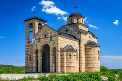 An orthodox church in Serbia. The exterior of an orthodox church somewhere in the province of Kolubara, between the border and Uzice Stock Image