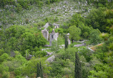 The Orthodox Church. On the shores of the Skadar Lake at Montenegro Royalty Free Stock Photo