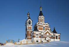 Orthodox church in Siberia Stock Photos