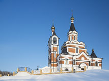 Orthodox church in Siberia Royalty Free Stock Images