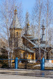 The Orthodox Church in the Siberian village Stock Photo