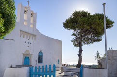 Orthodox church in Sifnos island, Cyclades, Greece Stock Images