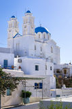 Orthodox church in Sifnos island, Cyclades, Greece Royalty Free Stock Images