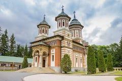 Orthodox church of the Sinaia monastery. In Romania stock photography