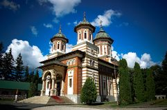 Orthodox Church in Sinaia Romania stock images