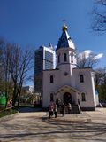 The Orthodox Church in Solomensky Park in Kiev Stock Photo