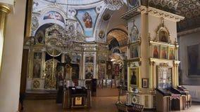 Within the Orthodox Church. Spaso-Preobrazhensky Cathedral in Dnepropetrovsk, Ukraine stock video