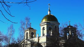 Orthodox church of st. Alexander Nevsky stock footage