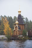 Orthodox Church of St. Andrew on Vuoksa river Royalty Free Stock Photography