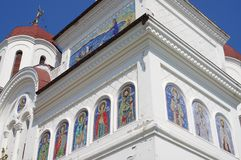 The orthodox church with St. George mosaics. The orthodox church St. George, St Gheorghe, in Mangalia, Romania inaugurated in 1929 Royalty Free Stock Photography