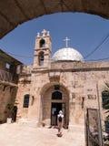 Orthodox church of St. John the Baptist in old Jerusalem, Israel Royalty Free Stock Image