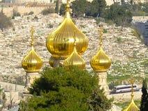 The Orthodox Church of St Mary Magdalene, Jerusalem stock image