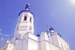 Orthodox Church of St Peter and St. Paul in Salair, the Kemerovo Region, Russia. The church was built in 1907. Royalty Free Stock Photography