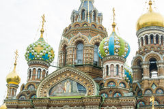 Orthodox Church, St. Petersburg. Details of Orthodox Church Savior on Spilled Blood in St. Petersburg Royalty Free Stock Photos