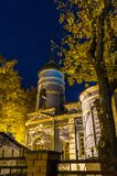The Orthodox Church in the starry night. royalty free stock images