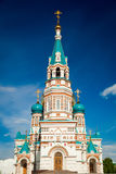 Orthodox church  in the summer day Royalty Free Stock Photography