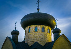 Orthodox church at sunset Royalty Free Stock Photos