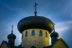 Orthodox church at sunset Stock Photography