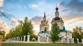 Orthodox church at sunset stock video footage