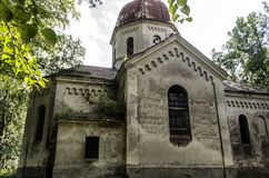 Church. Orthodox church surrounded by trees Stock Photo