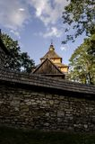 Church. Orthodox church surrounded by trees Royalty Free Stock Image