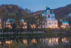 Orthodox church in Svyatogorsk, Donetsk Region Stock Photos
