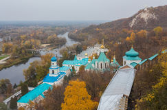 Orthodox church in Svyatogorsk, Donetsk Region Stock Images