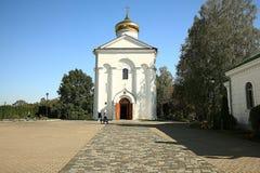 Orthodox church temple. Beautiful white Orthodox church temple Stock Photo