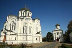 Orthodox church temple. Beautiful white Orthodox church temple Royalty Free Stock Photos