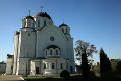 Orthodox church temple. In summer time Stock Image