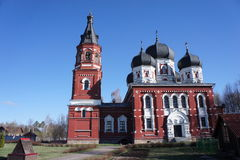 Orthodox Church on the territory of a functioning monastery in the Moscow region. Orthodox Cathedral in Tver region stock photography