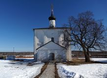 The Orthodox Church of the 12th century. Suzdal, Vladimir region, Golden Ring of Russia Stock Image