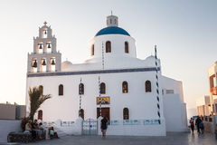 Orthodox Church Thira Santorini Greece Stock Photos
