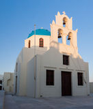 Orthodox Church Thira Santorini Greece Stock Image