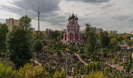 Orthodox church of Tikhvin Icon of Our Lady. Royalty Free Stock Photo