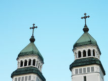 Orthodox church towers Stock Images