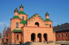 Orthodox church under construction. Kiev, Ukraine Royalty Free Stock Image