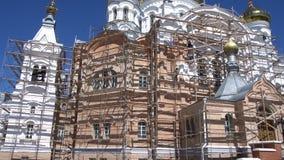 Orthodox Church Under Renovation Process stock video footage