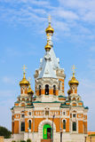 Orthodox Church in Uralsk city Stock Photo
