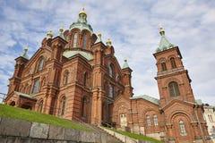 Orthodox church of Uspensky. Helsinki city center. Finland herit. Age landmark Stock Photo